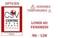 Horaires temporaires COVID-19