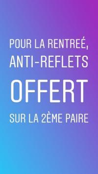 Anti-reflets offert sur votre 2ème paire !